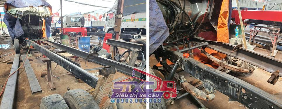 Gia cố chassis + Lắp ráp - Sửa chữa cẩu
